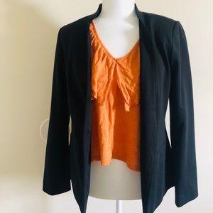 SzM Zara Orange Ruffled shirt